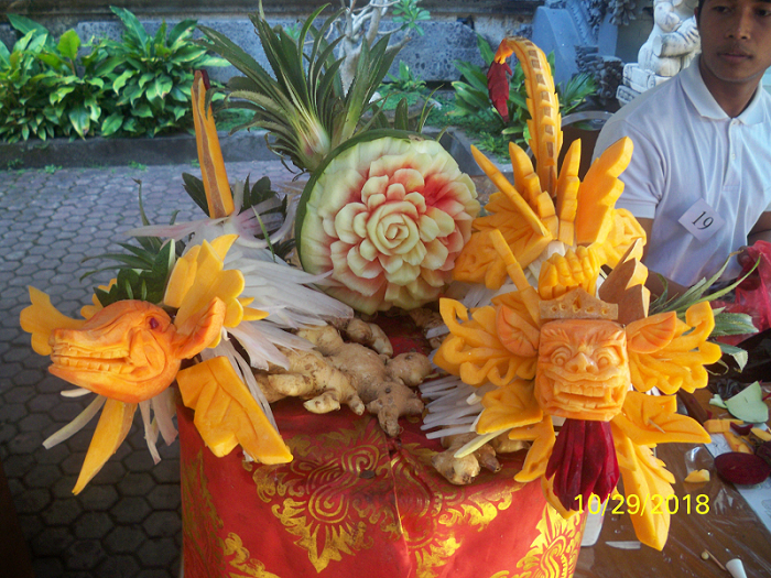 FRUIT CARVING STIPAR TRIATMA JAYA  2018