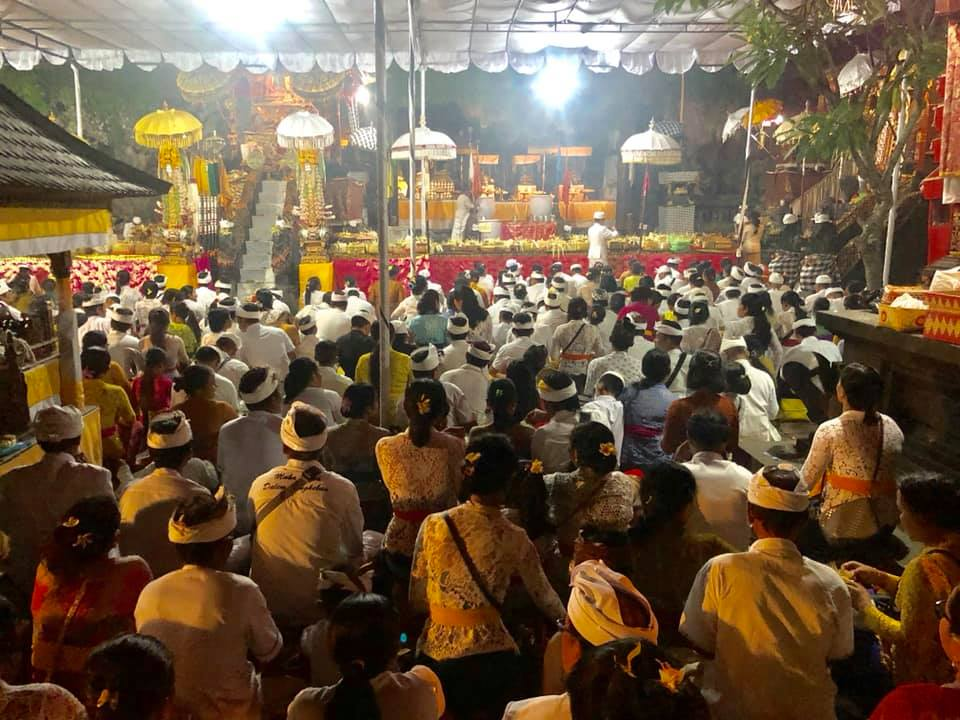 Goa Lawah Temple Worshiper  2019