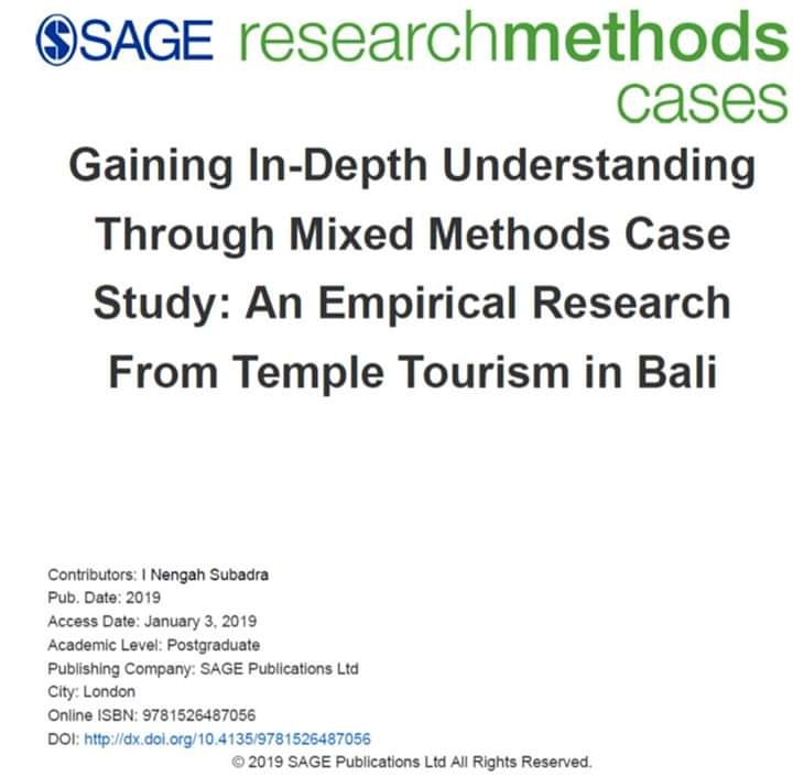 I NENGAH SUBADRA SAGE PUBLICATION - TEMPLE TOURISM BALI